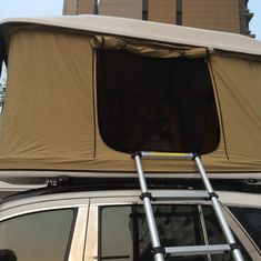 Custom 4X4 Fiberglass Car Roof Top Tent Single Layer , Rectangle Shaped supplier