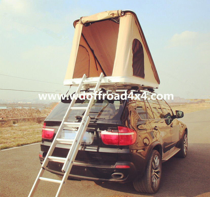 Ne Side Open Hard Sided Roof Top Tent , ABS Lid Triangle Roof Top Tent supplier
