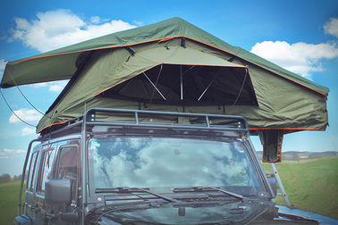 Tear Resistant Pop Up Vehicle Tent With 2M Extendable Aluminum Ladder
