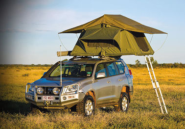 Customized Pop Up Roof Top Tent , Aluminum Pole Roof Rack Mounted Tent